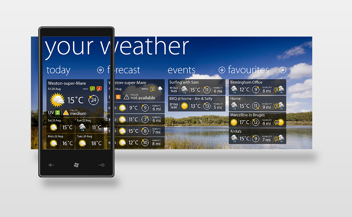Weather App for Windows Mobile